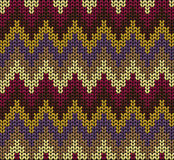 Knitted wool vector background Royalty Free Stock Images