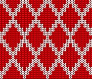 Knitted Wool Vector Background Stock Image