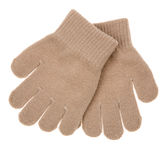 Knitted woolen baby gloves Stock Image