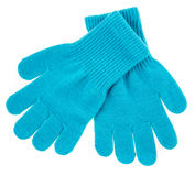 Knitted woolen baby gloves Royalty Free Stock Photos