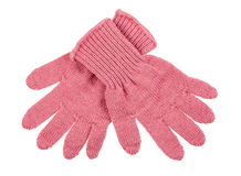Knitted woolen baby gloves Stock Photography