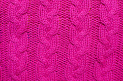 Knitted Woolen Background, Red Texture. Knitting background texture, red color Royalty Free Stock Image