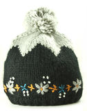 Knitted woolen cap Stock Photo