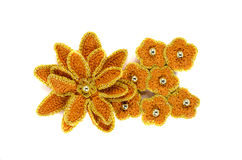 Knitted woolen decoration royalty free stock images