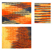 Knitted woolen pattern closeup. Set Stock Photo