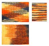 Knitted woolen pattern closeup. Set Stock Photo