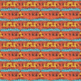 Knitted woolen seamless pattern. Beautiful red, blue, yellow knit texture for textile. Repeating abstract background Royalty Free Stock Photos