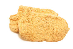 Knitted woolen socks Stock Photography