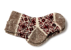 Knitted woolen socks Royalty Free Stock Photos