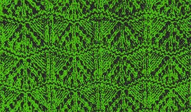 Knitted woolen texture pattern green vector Royalty Free Stock Photos
