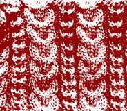 Knitted woolen texture red vector Royalty Free Stock Image