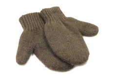Knitted woolen vareshek. On a white background Stock Photos