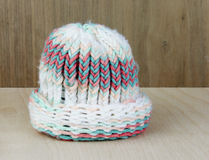 Knitted Yarn Babies Stocking Hat Royalty Free Stock Image