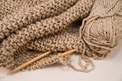 Knitted Yarn Blanket Royalty Free Stock Photography