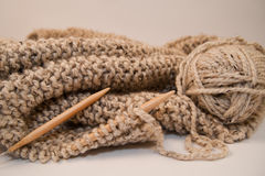 Knitted Yarn Blanket Royalty Free Stock Image