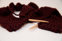 Knitted Yarn Scarf Stock Photos