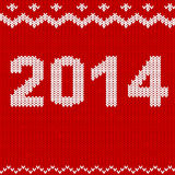 Knitted 2014. The year 2014 in a knitted vector design Royalty Free Stock Images