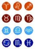 Knitted zodiac set Stock Image