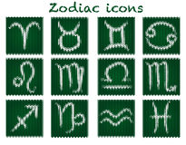 Knitted zodiac set Stock Photography