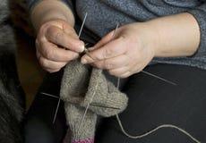 Knitting. stock photography