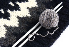 Knitting. Set for knitting on a white background Stock Photography