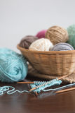 knitting Fotografie Stock