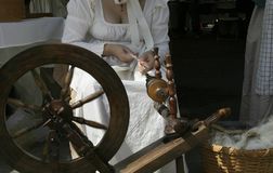 Knitting. Spinning wheel Royalty Free Stock Image