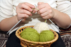 knitting Royalty-vrije Stock Foto's
