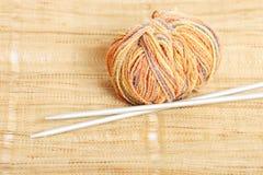 Knitting. Close-up photo of a knitting Stock Photo