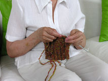 Knitting 8 Stock Photo