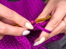 knitting royalty-vrije stock afbeelding