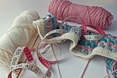 Free Knitting A Blanket Royalty Free Stock Image - 12376286
