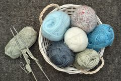 Knitting accessories royalty free stock image