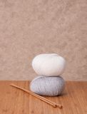 Knitting Accessories Set. Yarn Balls Royalty Free Stock Images