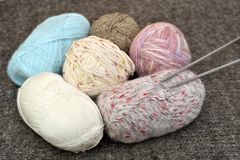 Knitting accessories royalty free stock photography