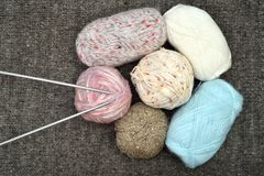Knitting accessories stock images