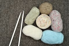 Knitting accessories stock photo