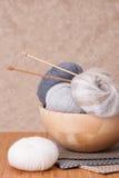 Knitting Accessories. Yarn Balls Stock Image
