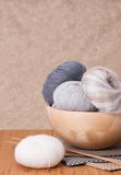 Knitting Accessories. Yarn Balls Stock Photo