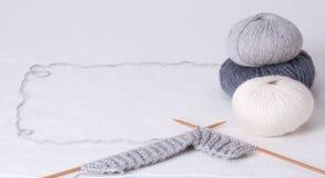 Knitting Accessories. Yarn Balls Stock Photos