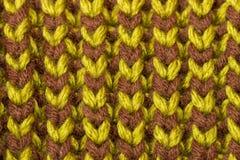 knitting Achtergrond gebreide textuur Heldere breinaalden royalty-vrije stock afbeelding