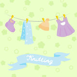 Knitting for babies set. Royalty Free Stock Photography