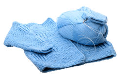 Knitting baby jacket Stock Photography