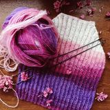 Knitting baby pullover Stock Images