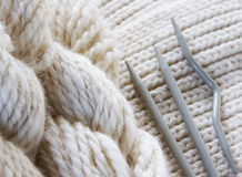 Knitting background Stock Photo