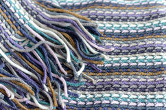 Knitting background texture. Blue color Royalty Free Stock Photography