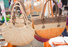 Knitting bag Royalty Free Stock Image