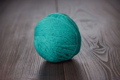 Knitting ball of threads Royalty Free Stock Photo