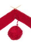 Knitting ball of yarn Royalty Free Stock Photography