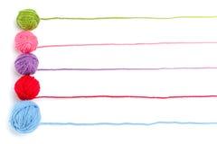 Knitting banner design Royalty Free Stock Images